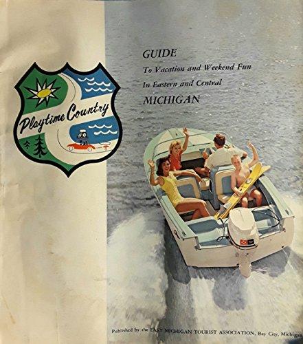 Vintage Original Rare 1950s Mid-Century Modern Big Retro Tourism Guide To Eastern & Central Michigan