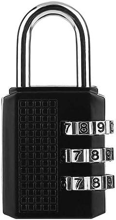 S/écurit/é en Alliage de Zinc 3 Combinaison Voyage Valise Code Bagages Cadenas