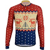 REdbEAR Men s Christmas Jumper Thermal Cycle Jersey - Long Sleeve Windproof  Cycling Top - For Road daa2a5aaf