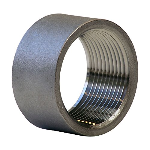 Coupling Half (Merit Brass KP611H-24 Stainless Steel 316 Cast Pipe Fitting, Half Coupling, Class 150, 1-1/2