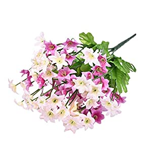 GSD2FF 70 Head Silk Artificial Flower Wedding Flower Spring Simulation Hexagonal Flower Bouquet Home Decor 36