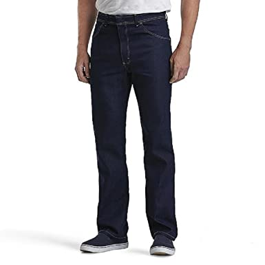 New basic edition comfort action stretch regular fit blue jeans.