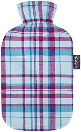 Fashy Wärmflasche mit Baumwollbezug im Karodesign