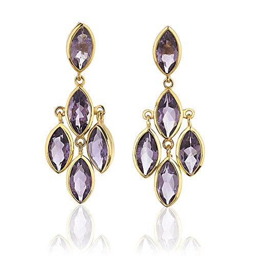 Multi Stone Chandelier Earrings - 8