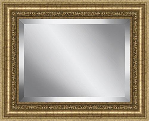 Framed Beveled Glass (Ashton Art & Decor BPMRP86-2430 Ashton Art & Decor Rectangle Gold Framed Beveled Plate Glass Mirror, 31.5 by 37.5