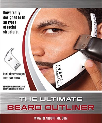 Beard Outliner Kit / 2 Beard Styles/ ROUND AND SQUARE set All-In-One Tool | The Beard Care & Grooming Gift Kit For Any Beard Bro | Use With A Beard - For Round Beard Face