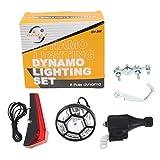 Naisicatar Bike Bicycle Dynamo Head&Rear Lights Set Cycle Power Safety No Batteries Needed
