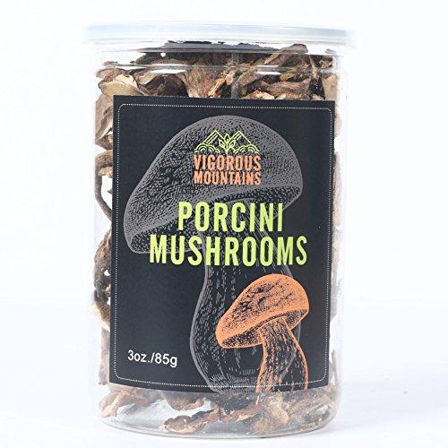Vigorous Mountains Dried Porcini Mushrooms Boletus Edulis 3 Ounce