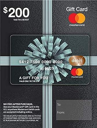 Amazon.com: Tarjeta de regalo de 200 USD Mastercard (más ...