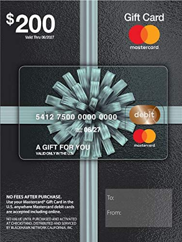 $200 Mastercard Gift Card (plus $6.95 Purchase Fee) (Best Gifts Under 500)