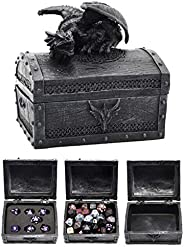 Forged Dice Co. Deluxe Dragon Dice Storage Box with Custom Dice Foam Insert - Container Holds up to 6 Sets of