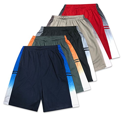 American Legend Mens Active Athletic Performance Shorts - Set 2-5 Pack, (3 4 Soccer Pants)
