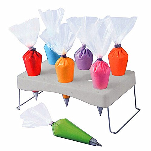 - Zehui ABS Stainless Steel Detachable Cake Decorating Pastry Bag Icing Bag Holder Stand Shelf