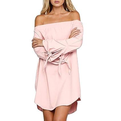 SamMoSon Damen Kleider Kleidung Retro Cocktailkleid Rockabilly Sommerkleid Elegant Knielang Festlich Strandkleid Abendkleid P