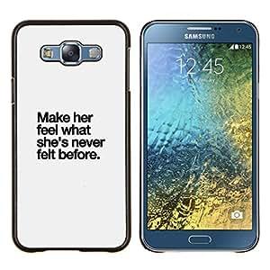 LECELL--Funda protectora / Cubierta / Piel For Samsung Galaxy E7 E700 -- gris haga su cita del amor inspirador --