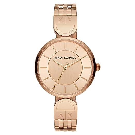 e74ea88c9dce Armani Exchange Reloj Analógico para Mujer de Cuarzo con Correa en Acero  Inoxidable AX5328  Amazon.es  Relojes