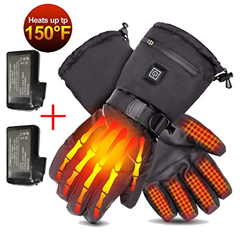 Loiion 7.4V 2500mAh Rechargeable Heated Gloves for Men & Women