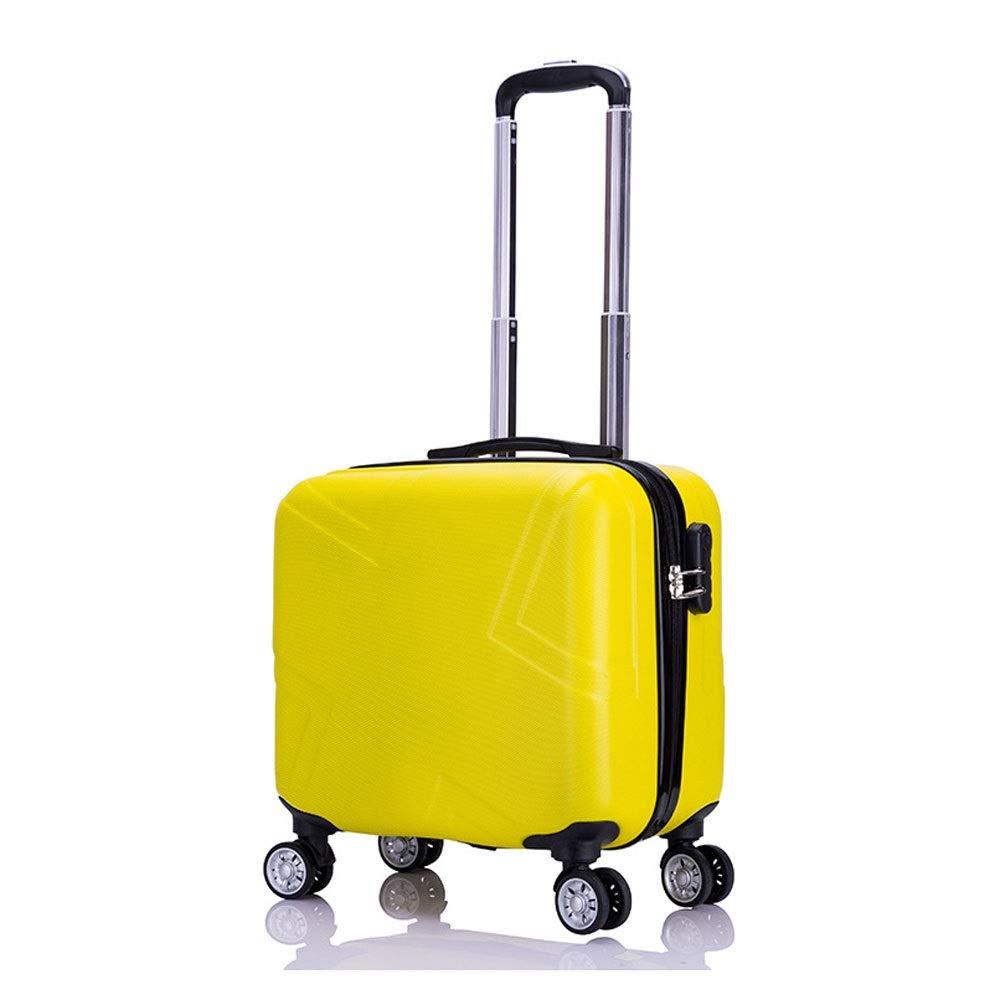 荷物のスーツケース搭乗シャーシトロリーケーススーツケース税関ロックユニセックスパスワードボックス、ビジネスハードボックス学生ユニバーサルホイール (Color : 黄, Size : 39x22x41cm)   B07QWL1346