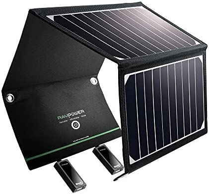 RAVPower Solar Charger 16W Solar Panel with Dual USB Port Waterproof Foldable Camping Travel Charger Compatible iPhone Xs XS Max XR X 8 7 Plus, iPad, Galaxy S9 S8 Edge Plus, Note, LG, Nexus and More - 10143191 , B00OQ0CAW6 , 285_B00OQ0CAW6 , 1783654 , RAVPower-Solar-Charger-16W-Solar-Panel-with-Dual-USB-Port-Waterproof-Foldable-Camping-Travel-Charger-Compatible-iPhone-Xs-XS-Max-XR-X-8-7-Plus-iPad-Galaxy-S9-S8-Edge-Plus-Note-LG-Nexus-and-More-285_B00OQ0
