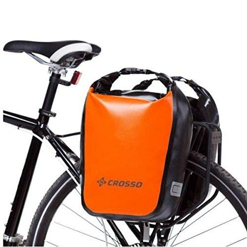 CROSSO Dry Small 30l Gepäckträgertasche Fahrradtasche verschiedene Farben orange m55NKD
