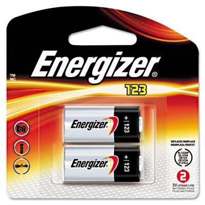 Lithium Photo Battery, 123, 3V, 2/Pack, Sold as 2 Each ()
