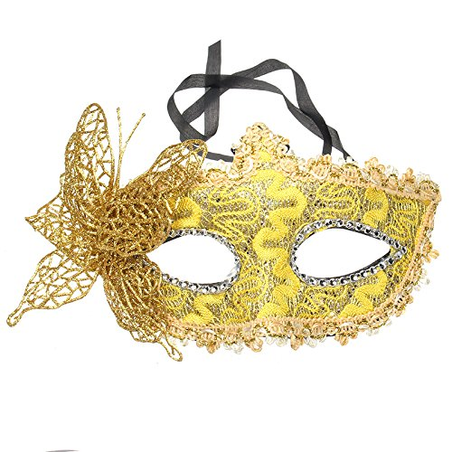Halloween Costumes Butterfly Gold Mask Masquerade Party DIY Drawing -