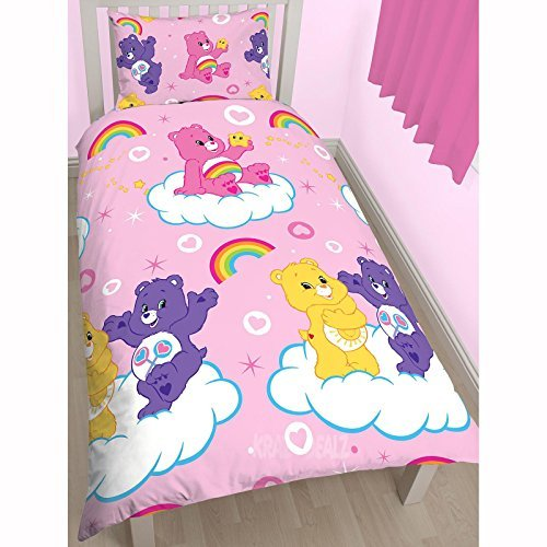 Care Bears Set - Care Bears Share Single/US Twin Duvet Cover and Pillowcase Set