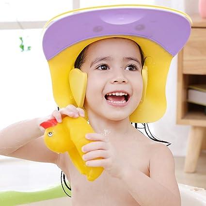 HomeDecTime Shampoo Cap Augenschutz Dusche Badeschutz Kappen Hut f/ür Baby Kinder 40-55cm Gr/ün