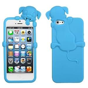 Fits Apple iPhone 5 Soft Skin Case Baby Blue Dog Peeking Pets Skin AT&T, Cricket, Sprint, Verizon (does NOT fit Apple iPhone or iPhone 3G/3GS or iPhone 4/4S)