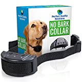 Advance No Bark Collar By Perfect Quality Solution-No Harm Shock Dog Control-7 Sensitivity Adjustable Control Levels For Training Small Medium Or Large Dogs-FREE BONUS