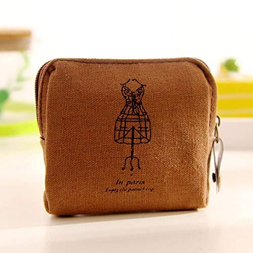 Vintage Canvas Tower Cloth Purse Wallet Card Key Coin Bag Pouch Case (Model - #2)
