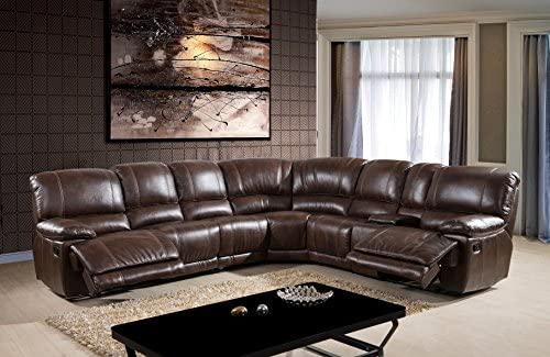 . Amazon com  McFerran Home Furniture 3 Piece Sectional in Brown