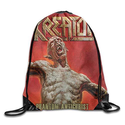 Guiping Kreator -Phantom Antichrist (2) Unisex Drawstring Gym Sack Sport Bag