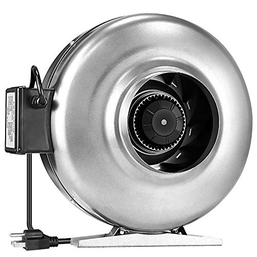 iPower 6″ 410 CFM Inline Duct Fan Ventilation HVAC Vent Blower Fan For Grow Tent