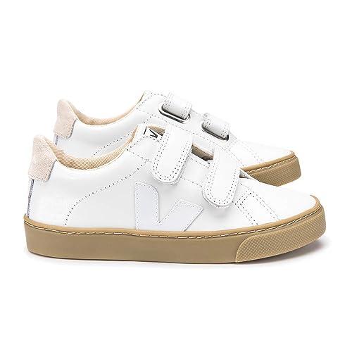 Veja Zapatillas de Deporte de Otra Piel Unisex Niños, Blanco (Blanco), 35 EU: Amazon.es: Zapatos y complementos