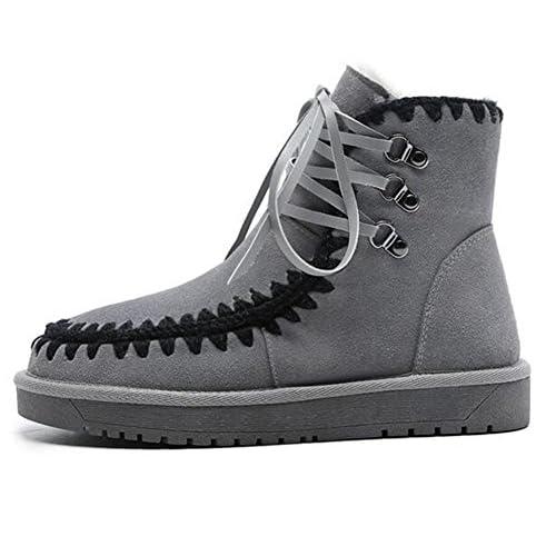 Zapatos de mujer de gamuza de invierno Casual Lace Up tobillo plataforma  botas de nieve oficina 6c824c02b0732
