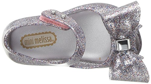 Mini Melissa Girls' Mini Ultragirl Bow III Ballet Flat, Multicolor Glitter, 10 Medium US Toddler - Image 8