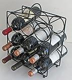DisplayGifts Metal Wine Rack Stand Storage, Table Top, WNR14