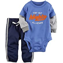 Carter's Baby Boys' 2 Piece Tiny But Mighty Bodysuit and Pants Set