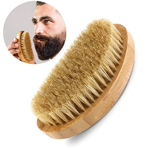 PIXNOR Beard Brush Genuine Bristle