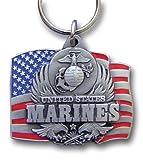 US Marines Flag Pendant Keychain