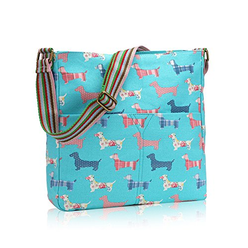 Crossbody Birds Scottie And Messenger Dot Sausage Animals Lovely Polka Light Owl Bags Poodles Dogs Blue Vintage Farm Flowers BO66wxdqW