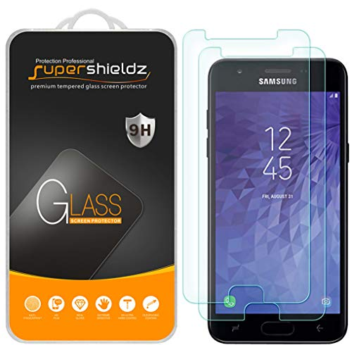 [2-Pack] Supershieldz for Samsung Galaxy J3 V J3V (3rd Gen) / J3 (3rd Generation) (Verizon) Tempered Glass Screen Protector, Anti-Scratch, Bubble Free, Lifetime ()