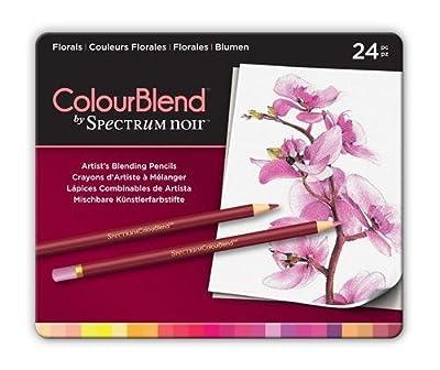 ColourBlend by Spectrum Noir New 24 Piece Pencil Tin, Florals