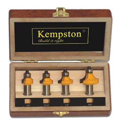 - Kempston KC5040 Roundover Set, 1/2-Inch Shank, 4-Piece