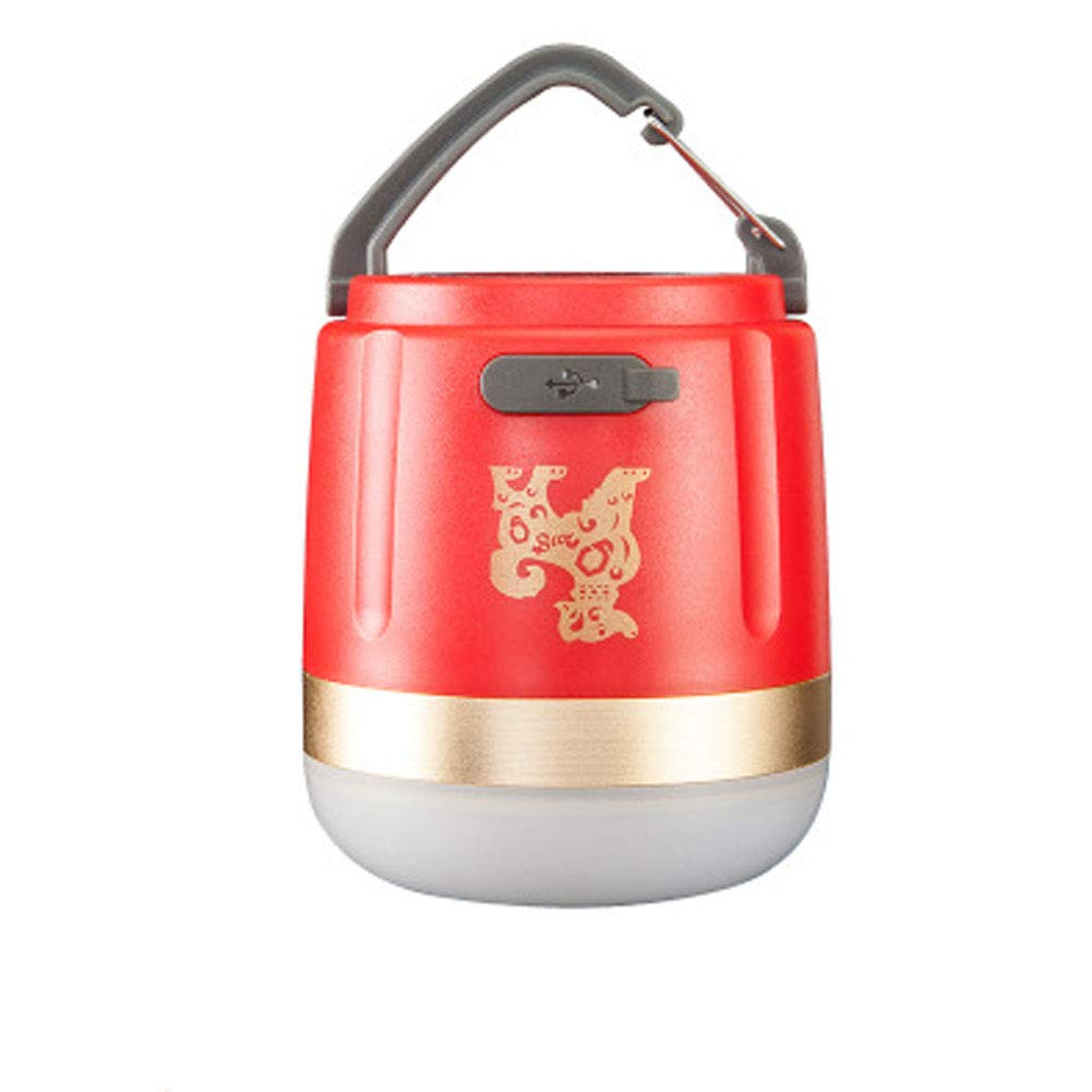 Tent Camping Ground Emergency Horse Light Home Rechargeable Lighting Super Bright Outdoor led Portable Light-red by ZEGEGE