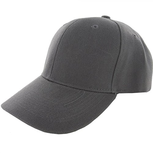 Gray-100% Acrylic Plain Baseball Cap Baseball Golf Fishing Cap Hat Men Women Adjustable Velcro (US (Renaissance Skirt & Hat)