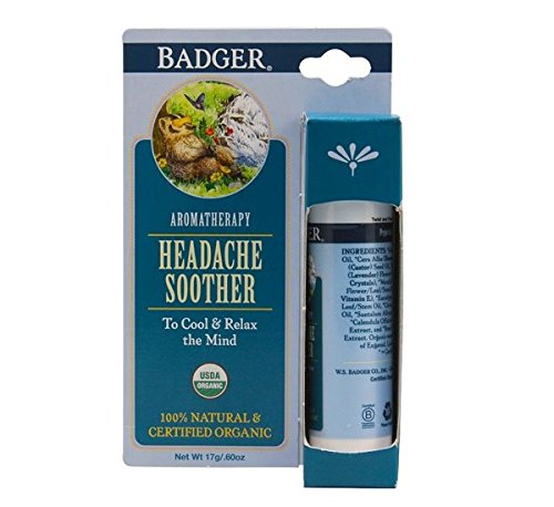 Headache Soother (Badger Aromatherapy Headache Soother -- 0.6 oz - 2pc)
