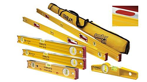 Stabila 96M Magnetic Level Set Kit - 78''/48''/32''/24''/16'' Torpedo and Case by Stabila