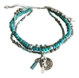 Chan Luu Blue Mix Adjustable Bracelet